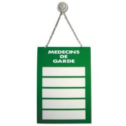 Plaque Plexiglas 200x285mm médecin de garde