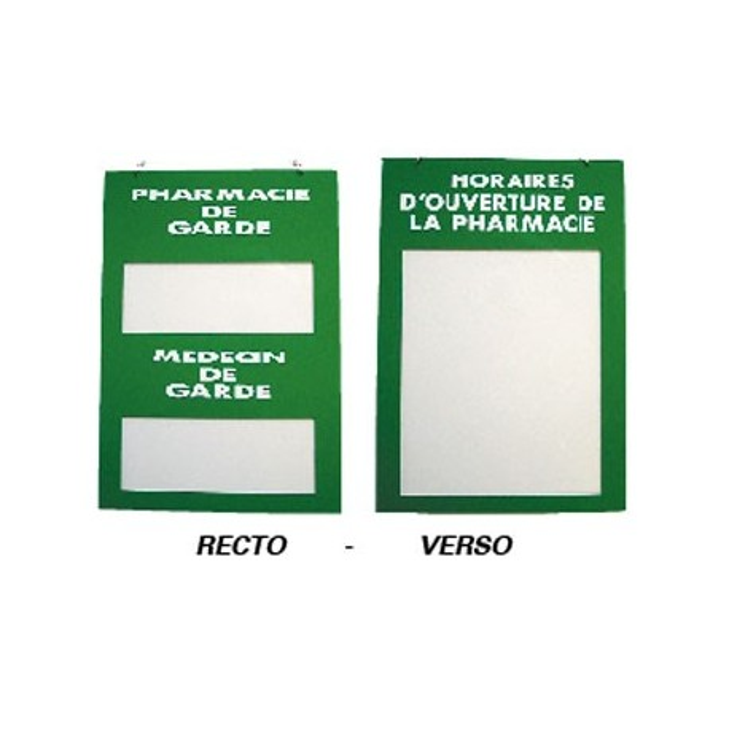"Plaque signalétique ""Médecin/Pharmacie de garde"" en plexiglass"