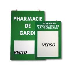 Plaque plexiglas 200x285mm rv pharmacie de garde et horaires