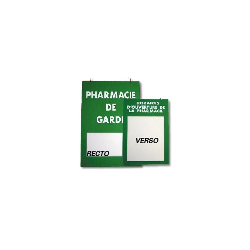 """Plaque signalétique """"Pharmacie de garde/Horaire"""" R/V en plexiglass"""