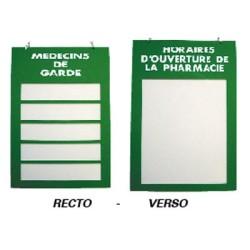 Plaque plexiglas 200x285mm pharmacies de garde et horaires