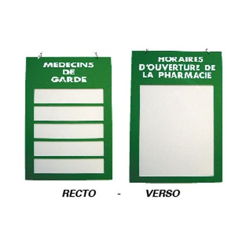 Plaque plexiglas 200x285mm pharmacies de garde et horaires - Pharmacie de garde valenciennes ...