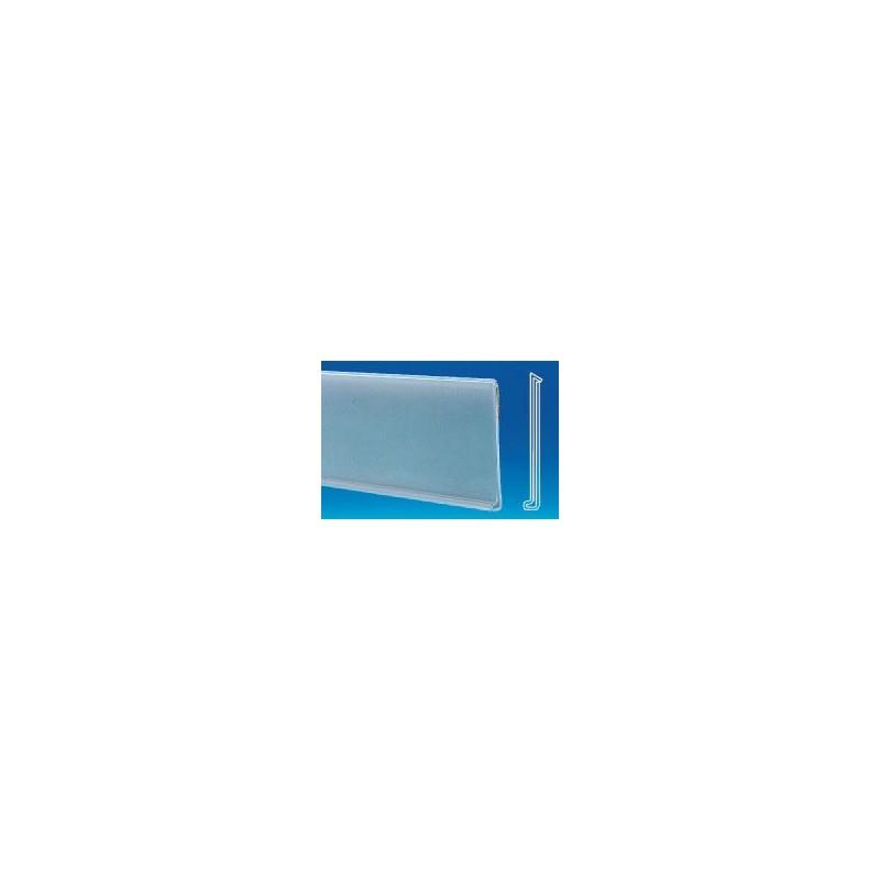 GLISSIERES PORTE ETIQUETTE FOND TRANSPARENT (LOT DE 10)
