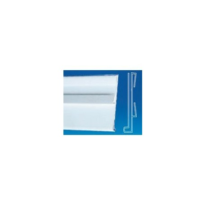 GLISSIERES PORTE ETIQUETTE FOND BLANC (LOT DE 10)