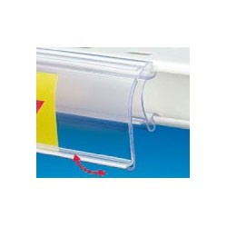 Glissieres porte étiquette articulés p25 40x1318mm (lot de 10)