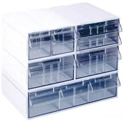 Trieur de bureau 2 cases a4 h430l750p330mm rubex pharma - Bloc tiroir plastique ...
