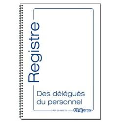 Registre des délégués du personnel, format A4, 40 pages foliotées