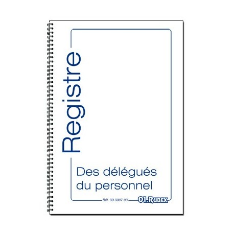 REGISTRE DES DELEGUES DU PERSONNEL