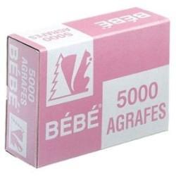 Agrafe bébé boite 5000 agrafes cuivre