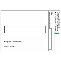 Étiquette Pharmacie 105x72mm personnalisée par 500