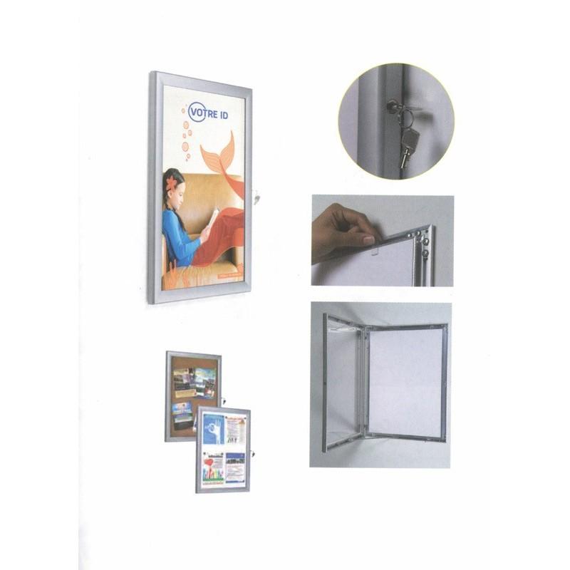 vitrine murale int rieur en aluminium format a4 rubex pharma. Black Bedroom Furniture Sets. Home Design Ideas