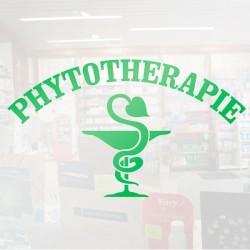 Visuel Phytothérapie caducée 105 x 60 cm pour vitrophanie