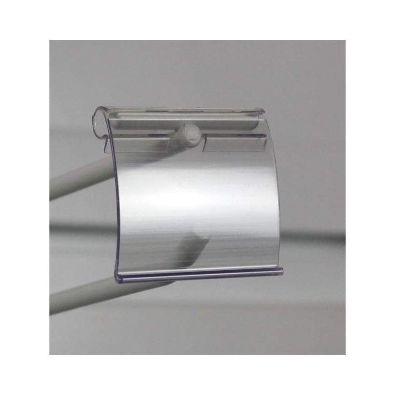Porte-étiquette transparente pour broche lot de 50