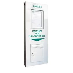 Boîte de dépôt d'ordonnances avec vitrine d'affichage et éclairage à LEDs