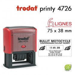 Tampon Dateur Trodat Printy 4726, 6 lignes (75x38mm)