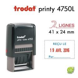Tampon Dateur Trodat Printy 4750L1 Reçu le.. (41x24mm)