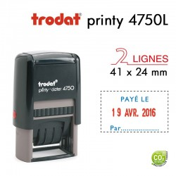 Tampon Dateur Trodat Printy 4750L2 Payé le.. (41x24mm)