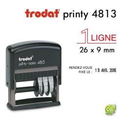 Tampon Dateur Trodat Printy 4813, 2 lignes (26x9mm)