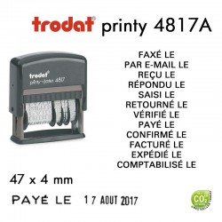 Dateur Trodat Printy 4817A, Multiformules (47x3,8mm)