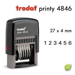 Numéroteur Trodat Printy 4846(27x4mm) 6 caractères