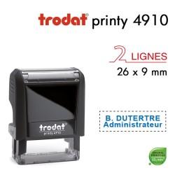 Tampon Trodat Printy 4910, 2 lignes (26x9mm)