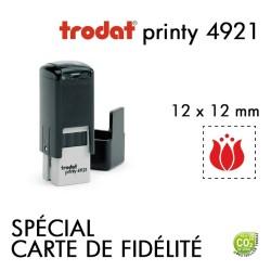 Tampon Trodat Printy 4921, texte 2 lignes(12x12mm)