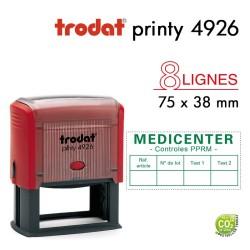 Tampon Trodat Printy 4926, texte 8 lignes (75x38mm)