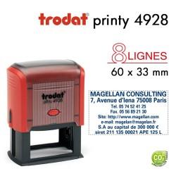 Tampon Trodat Printy 4928, texte 8 lignes (60x33mm)