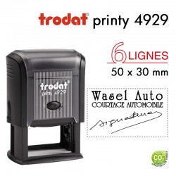 Tampon Trodat Printy 4929, texte 6 lignes (50x30mm)