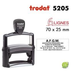 Tampon Trodat Métal line 5205, 6 lignes (70x25mm)