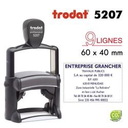 Tampon Trodat Métal line 5207, 9 lignes (60x40mm)