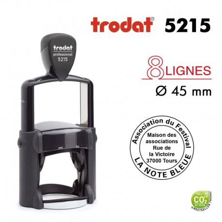 TAMPON TEXTE ROND PROLINE 5215 45MM