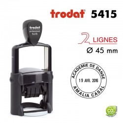 Tampon Dateur Trodat Métal line 5415, Rond, Diamètre 45mm