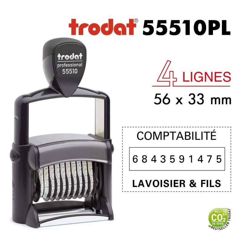 NUMEROTEUR TEXTE PROLINE 55510PL 56*33MM 10 BANDES