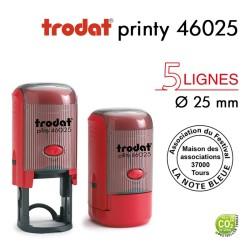 Tampon Trodat Printy 46025 Rond pour 5 lignes, Diamètre 25mm