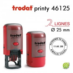 Tampon Dateur Trodat Printy 46125, Rond, 4 lignes D25mm
