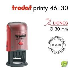 Tampon Dateur Trodat Printy 46130, Rond, 4 lignes D30mm