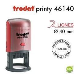 Tampon Dateur Trodat Printy 46140, Rond, 4 lignes D40mm