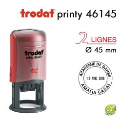 Tampon Dateur Trodat Printy 46145, Rond, 2 lignes D45mm