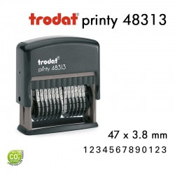 Numéroteur Trodat Printy 48313 (47x3,8mm) 13 caractères