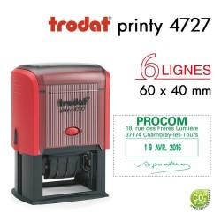 Tampon Dateur Trodat Printy 4727, 6 lignes (60x40mm)