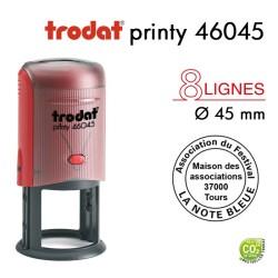 Tampon Trodat Printy 46045 Rond pour 8 lignes, Diamètre 45mm