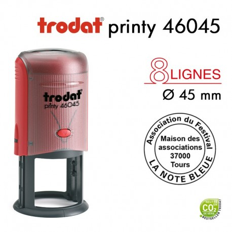 TAMPON TEXTE PRINTY 46045 ROND D45MM