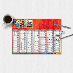 Calendrier mural A3 Collection 2018 - Couleurs