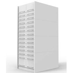 Colonnes à tiroir pharmacie avec 12 tiroirs simples et 2 doubles