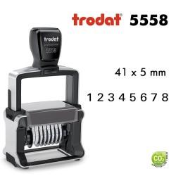 Numéroteur Trodat Métal line 5558 (38x5mm) 8 caractères
