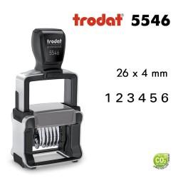 Numéroteur Trodat Metal Line 5546 (26x4mm) 6 caractères