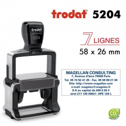 Tampon Trodat Métal line 5204, 6 lignes (58x26mm)