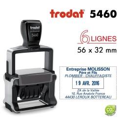 Tampon Dateur Trodat Métal line 5460, 6 lignes (56x32mm)
