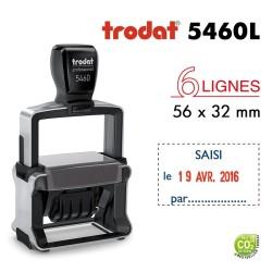 Tampon Dateur Trodat Métal line 5460L8 Saisi le.. (56x32mm)